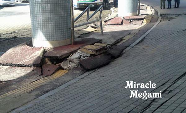 地震でこんなに。。